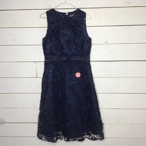 New Chi Chi London Christia Midi Tulle Lace Navy